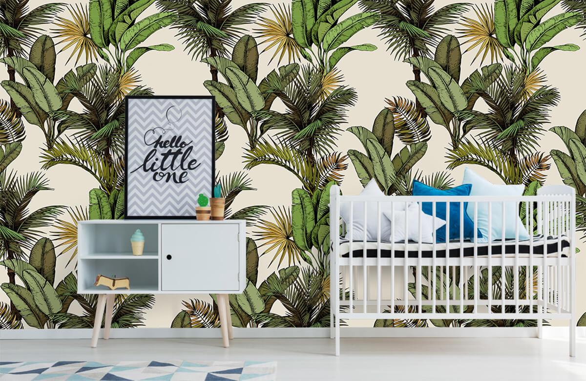 Jungle - Tropische palm- en bananenbladeren - Slaapkamer 6