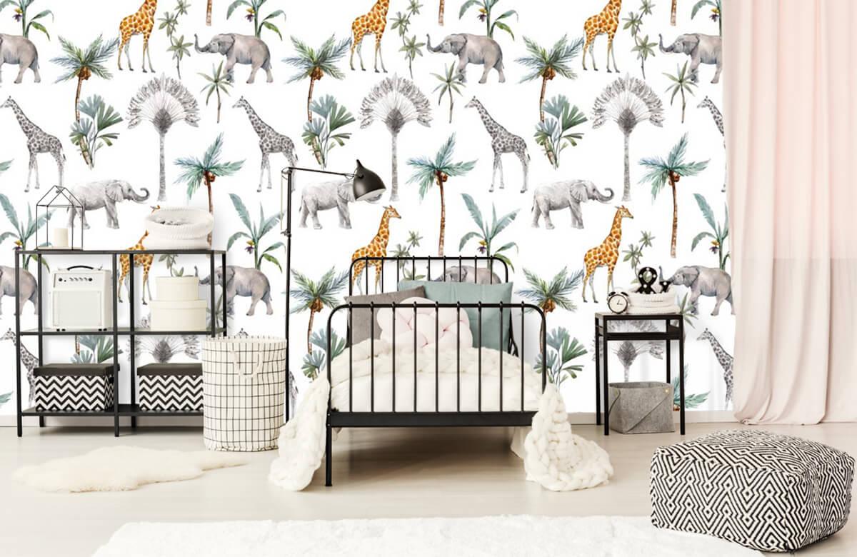 Kinderbehang - Jungle dieren - Kinderkamer 2