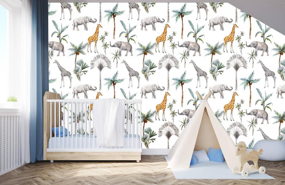 Kinderbehang - Jungle dieren - Kinderkamer 3