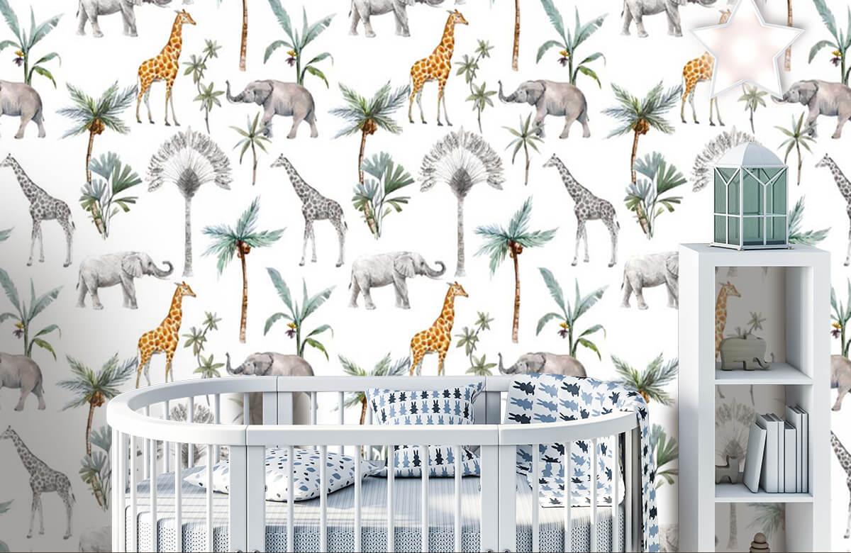 Kinderbehang - Jungle dieren - Kinderkamer 5