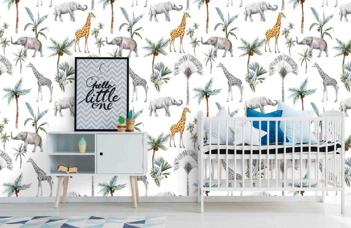 Kinderbehang - Jungle dieren - Kinderkamer 6