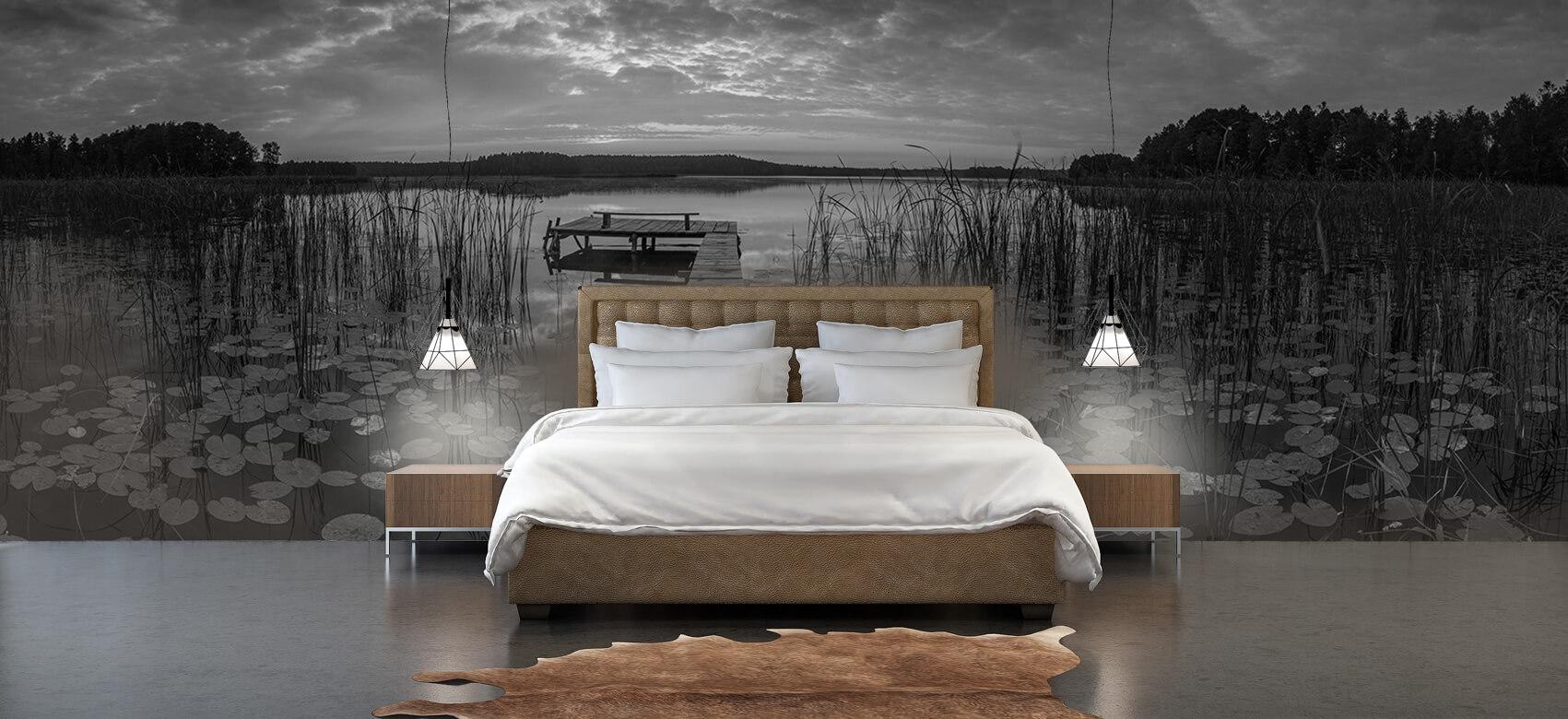 Houten Steigers - Zonsopgang aan het meer - Woonkamer 5