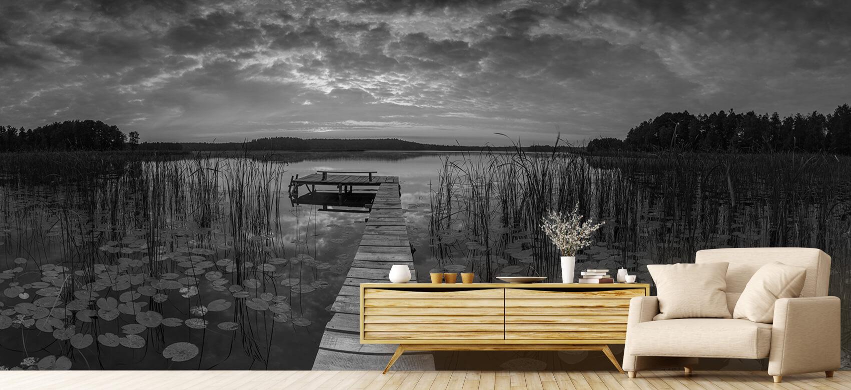 Houten Steigers - Zonsopgang aan het meer - Woonkamer 8