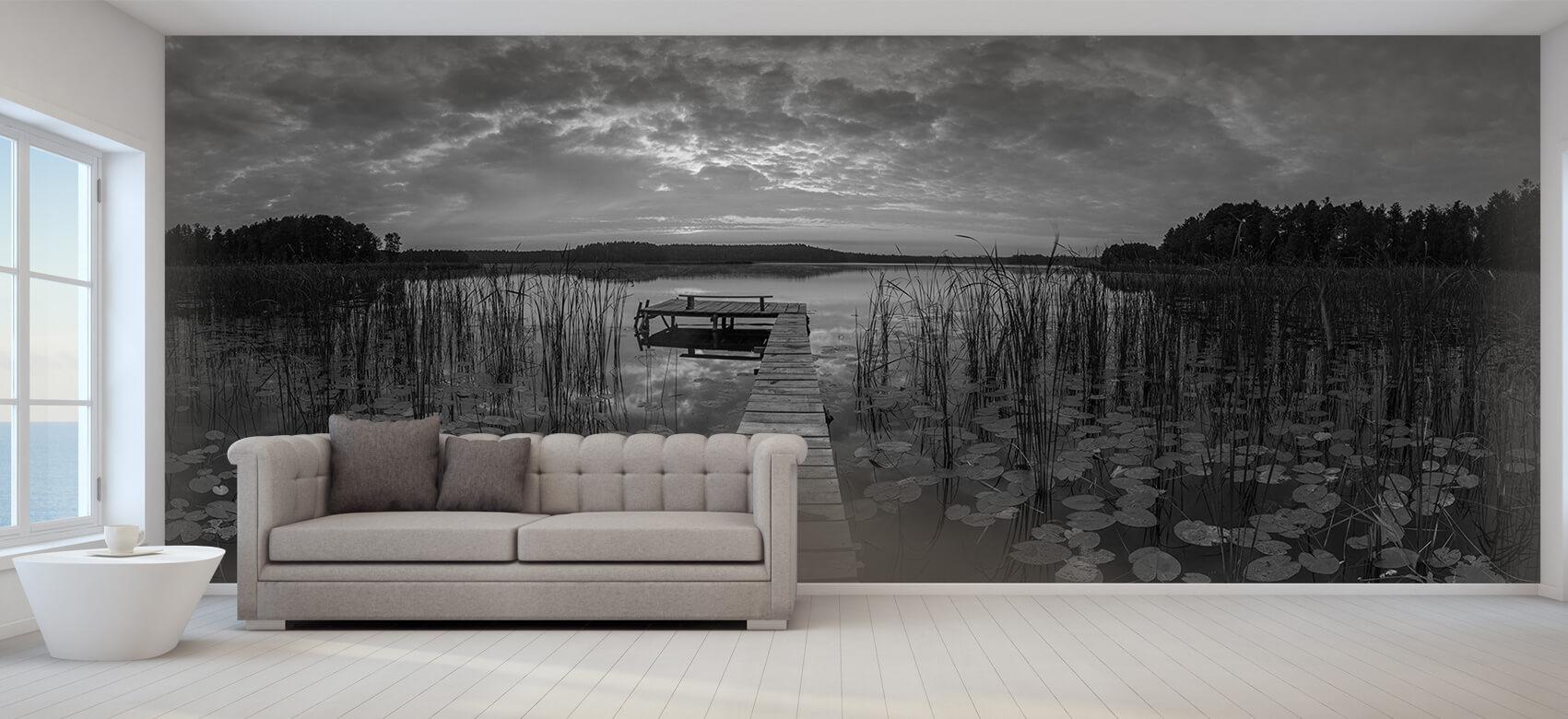 Houten Steigers - Zonsopgang aan het meer - Woonkamer 9