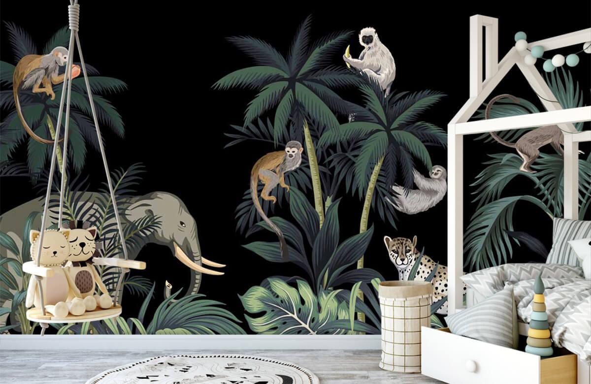 Dieren - Dieren in de jungle - Kinderkamer 4