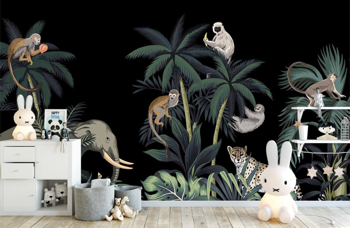 Dieren - Dieren in de jungle - Kinderkamer 1