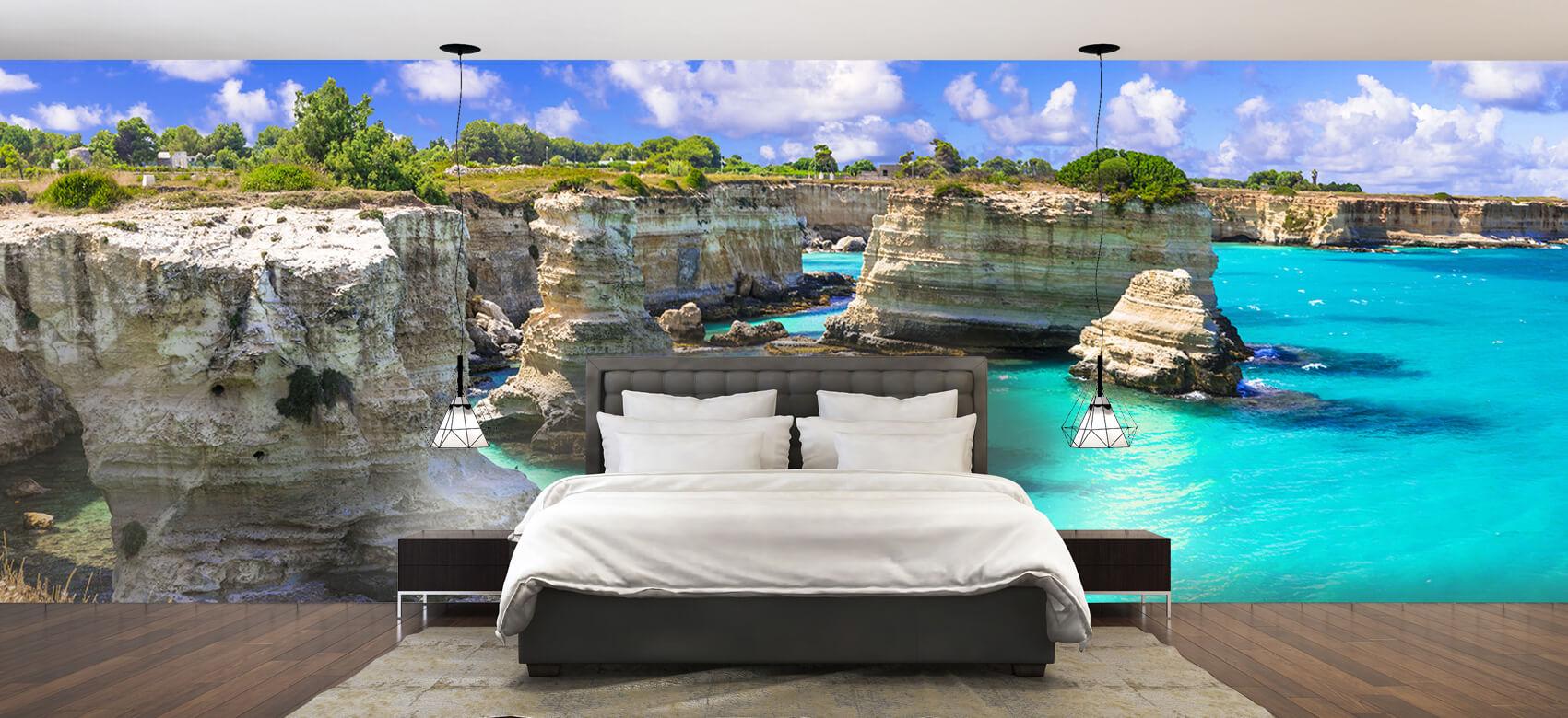 Zomer behang - Rotsformatie aan de kust - Slaapkamer 2