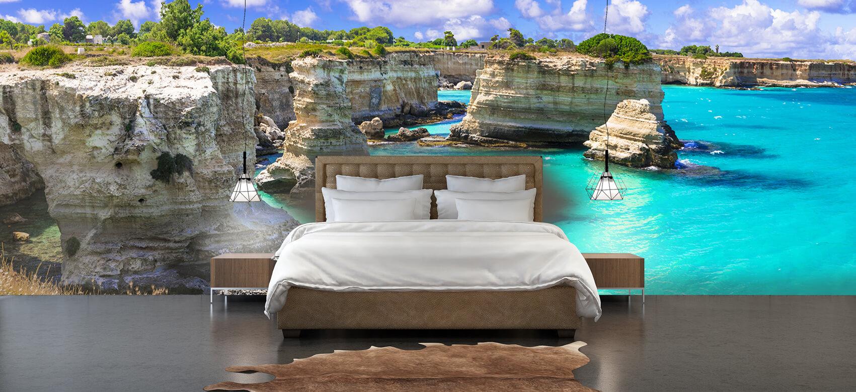 Zomer behang - Rotsformatie aan de kust - Slaapkamer 4