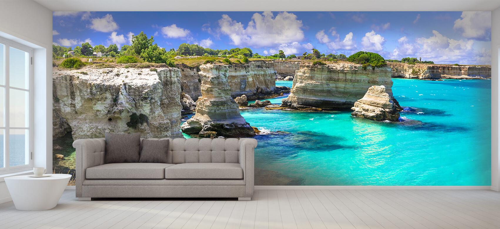 Zomer behang - Rotsformatie aan de kust - Slaapkamer 8