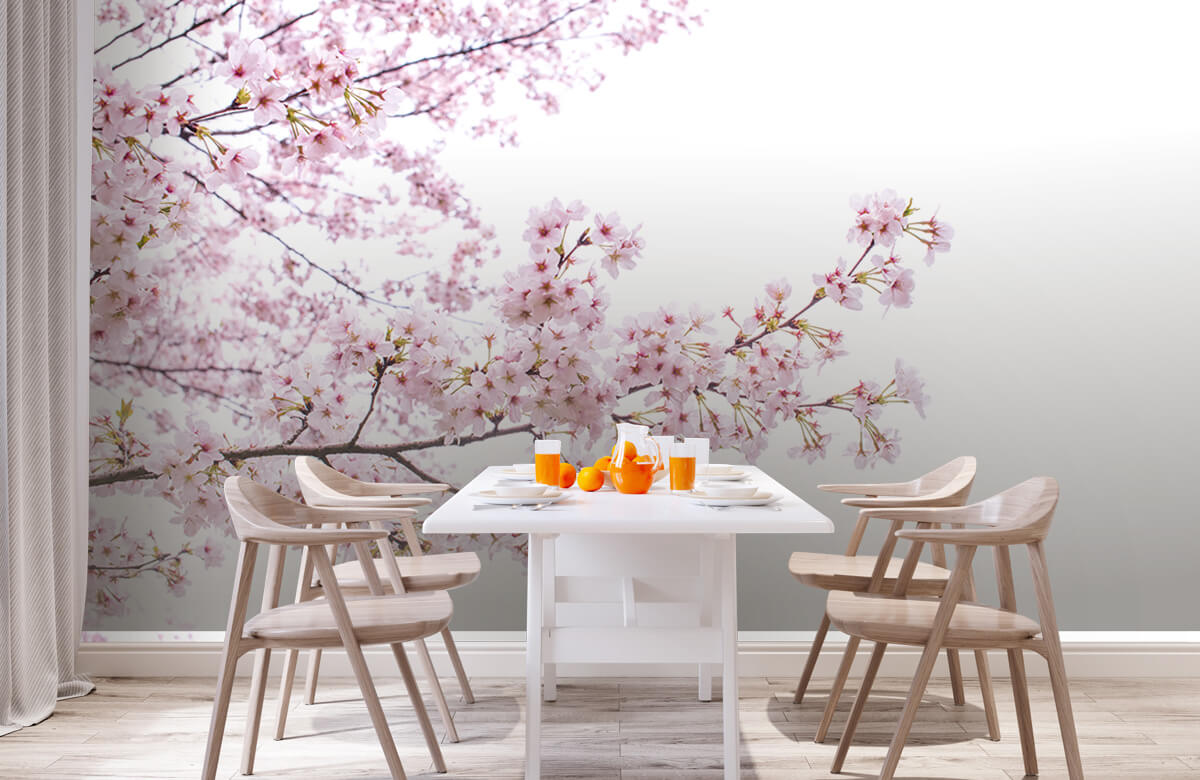 Bloesem - Roze bloesem takken - Woonkamer 2