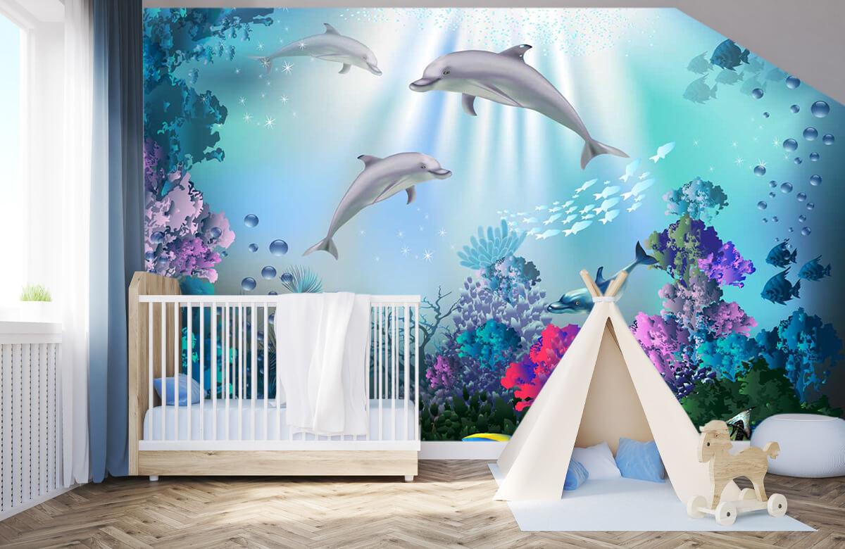 Zeedieren - Onderwaterwereld met dolfijnen - Kinderkamer 3