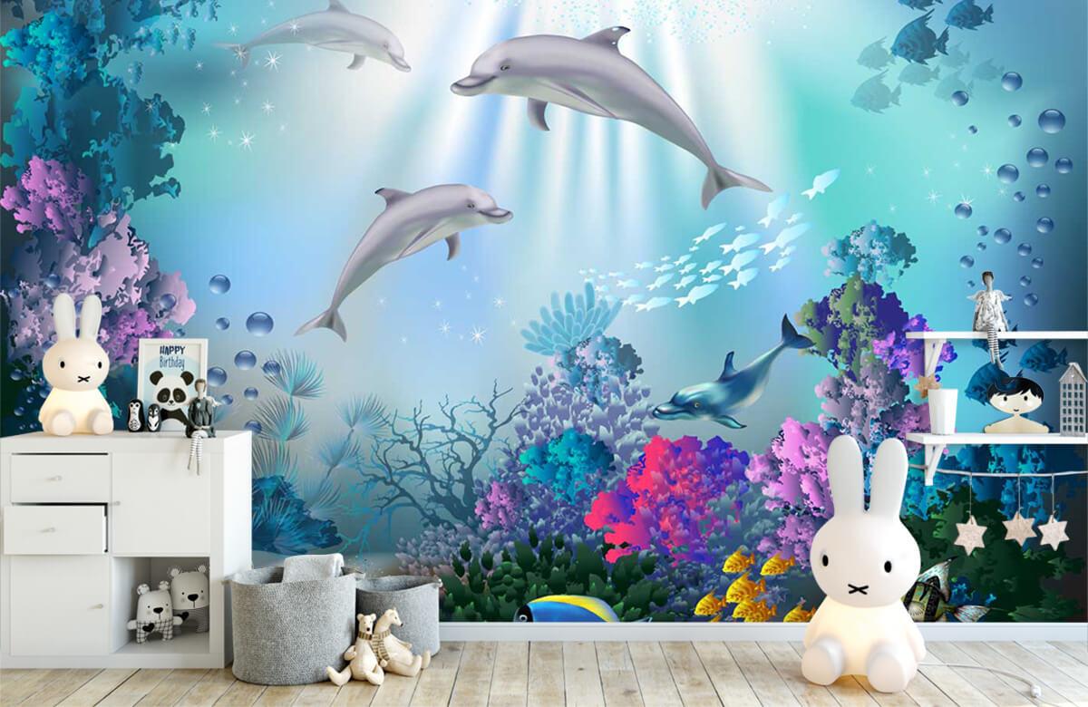 Zeedieren - Onderwaterwereld met dolfijnen - Kinderkamer 1