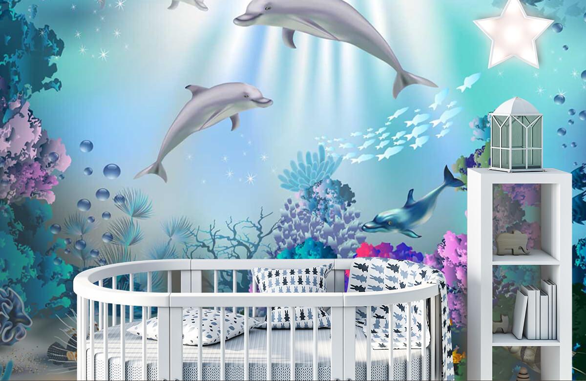 Zeedieren - Onderwaterwereld met dolfijnen - Kinderkamer 5
