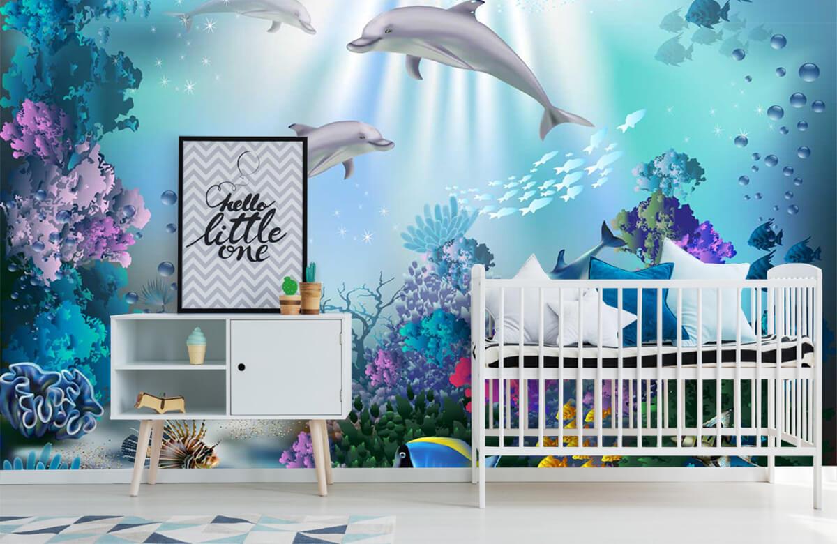 Zeedieren - Onderwaterwereld met dolfijnen - Kinderkamer 6