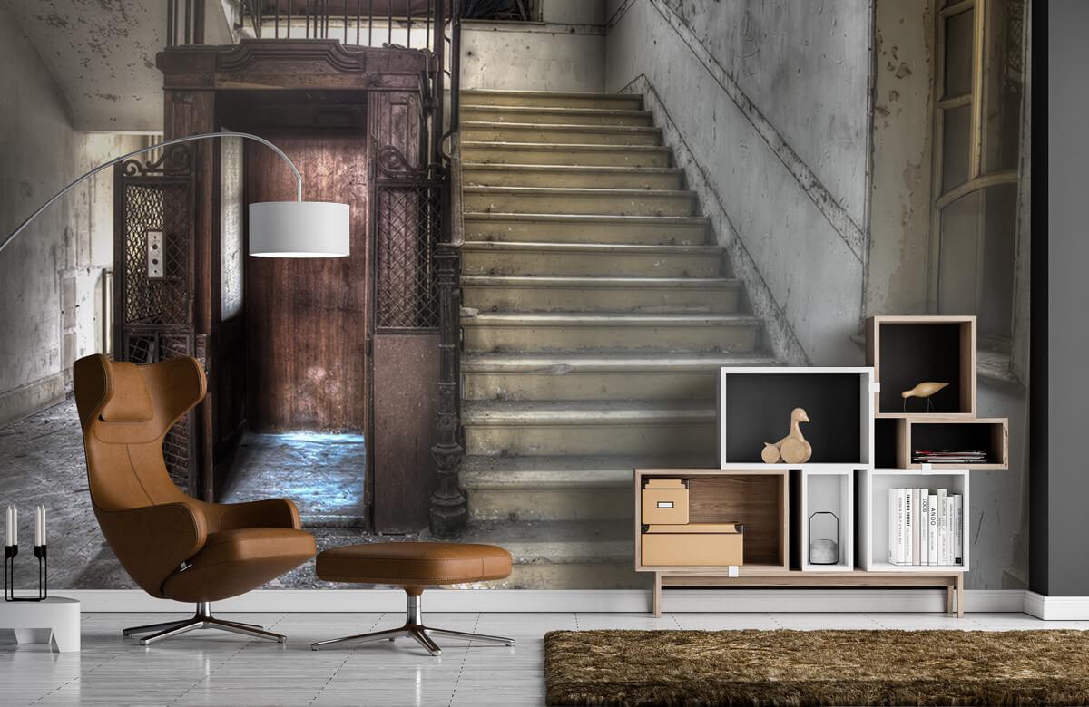 Gebouwen - Verlaten houten kooilift - Woonkamer 4
