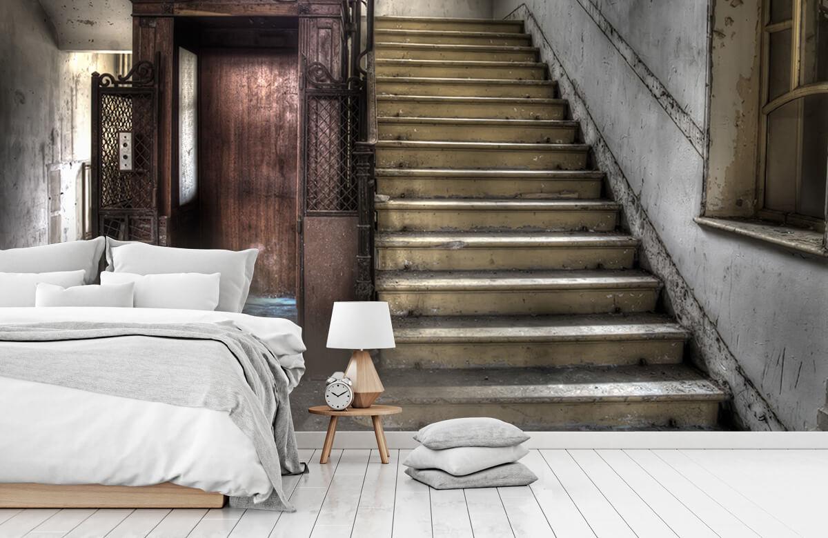Gebouwen - Verlaten houten kooilift - Woonkamer 7