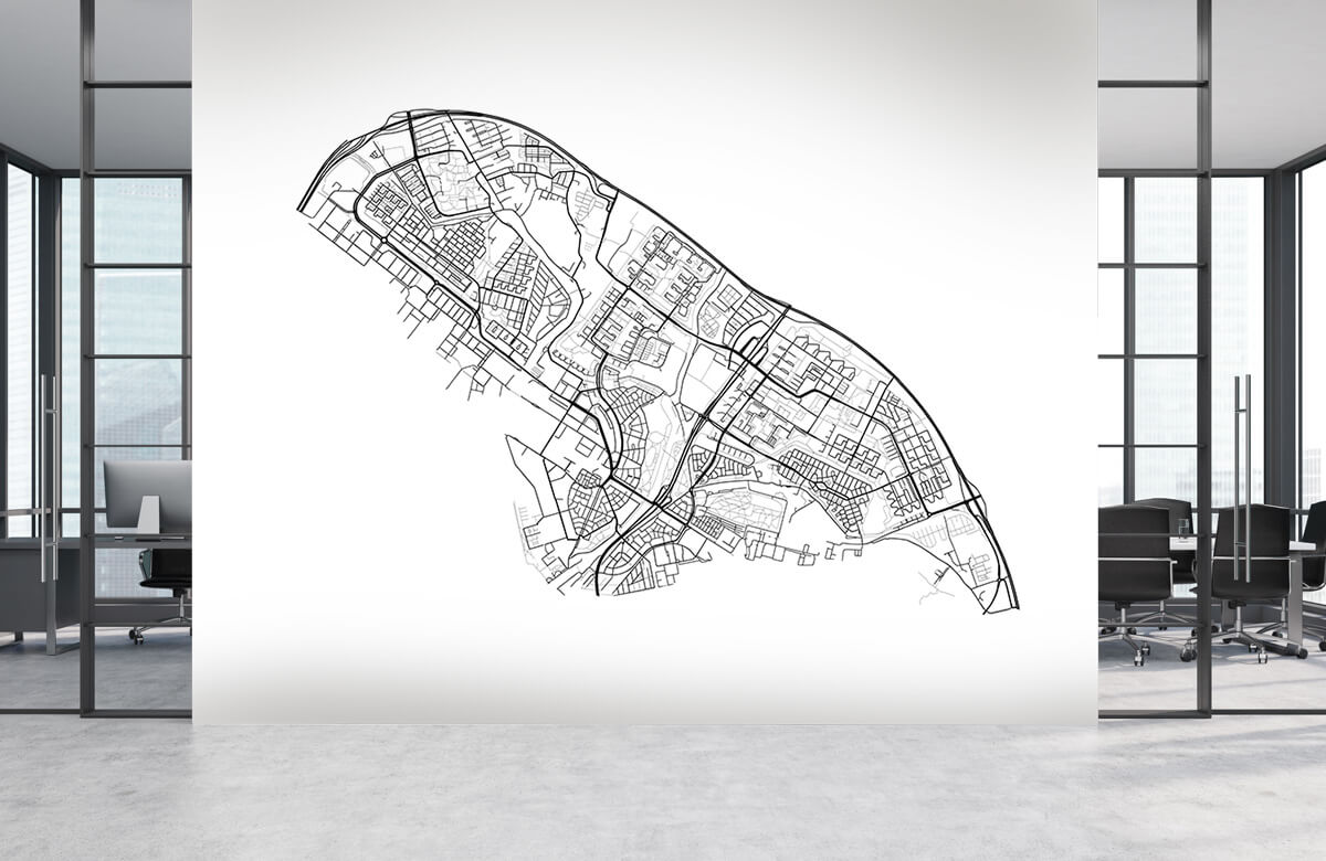 Kaarten - Plattegrond Amsterdam noord, wit - Ontvangstruimte 3