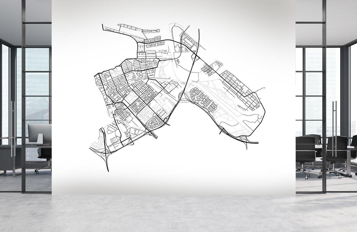 Kaarten - Plattegrond Amsterdam oost, wit - Kantoor 3