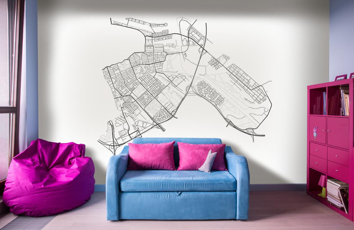 Kaarten - Plattegrond Amsterdam oost, wit - Kantoor 10