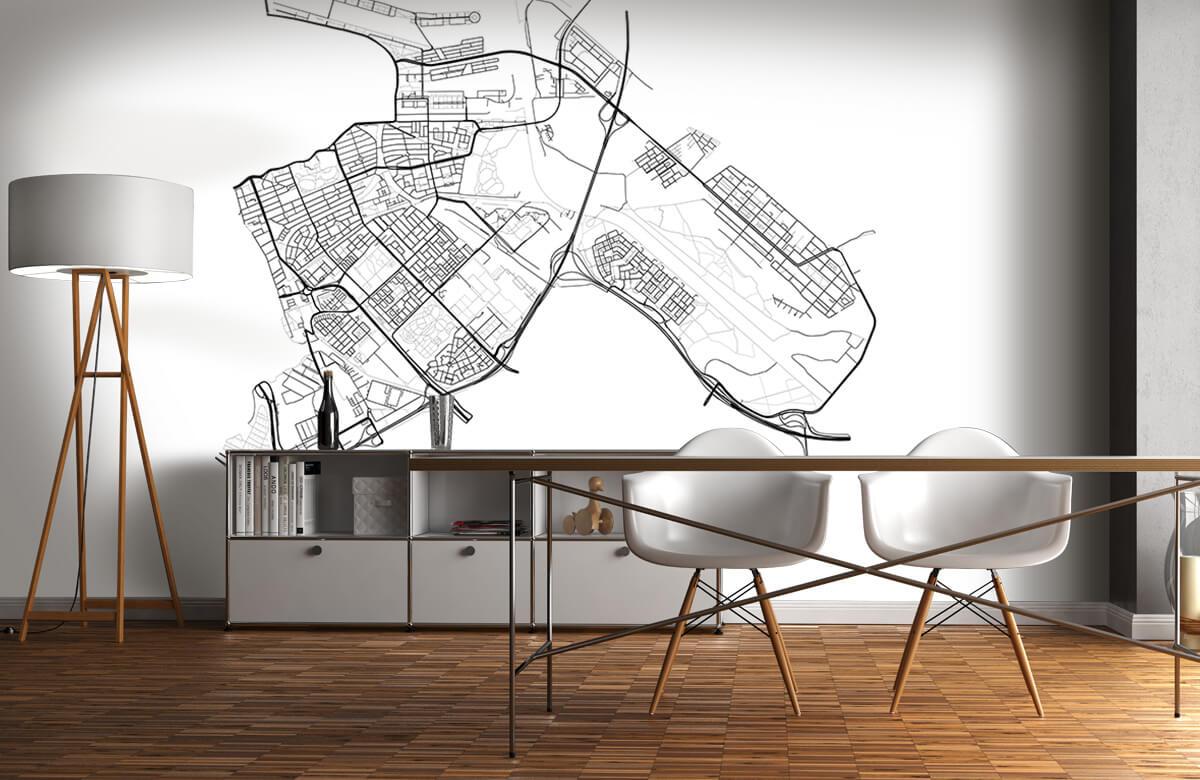 Kaarten - Plattegrond Amsterdam oost, wit - Kantoor 11