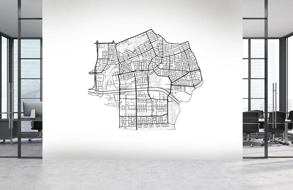 Kaarten - Plattegrond Amsterdam zuid, wit - Showroom 3