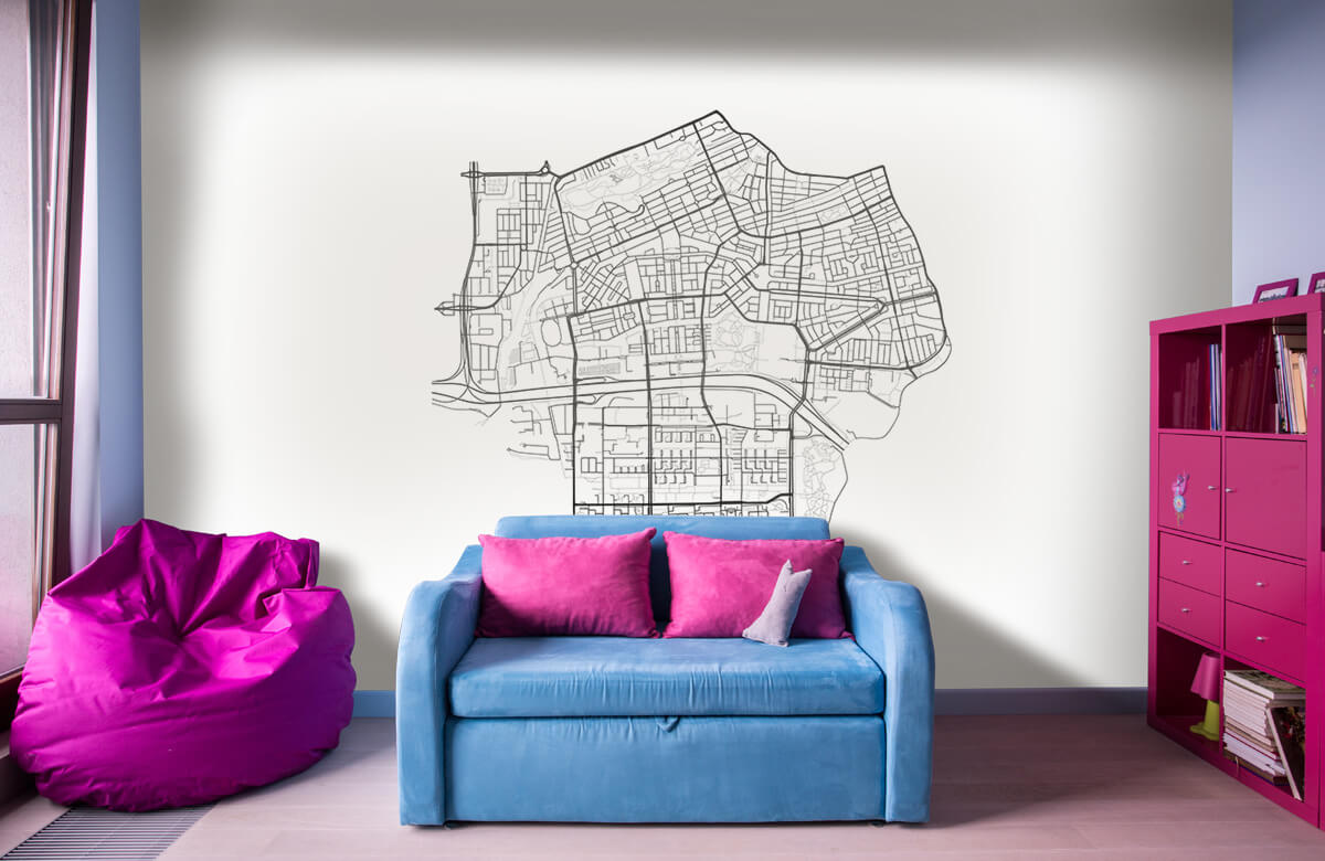 Kaarten - Plattegrond Amsterdam zuid, wit - Showroom 10