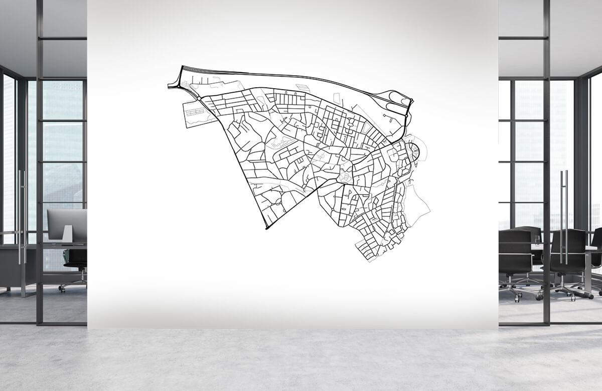 Kaarten - Plattegrond van Baarn, wit - Showroom 3