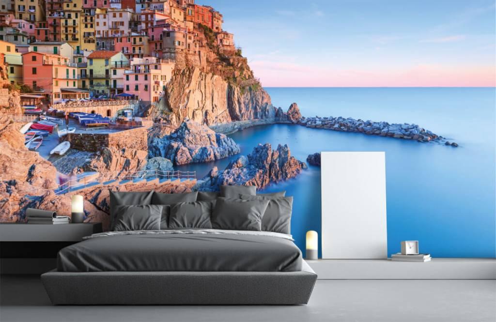 Steden behang - Dorp op een rots in Italië - Slaapkamer 3