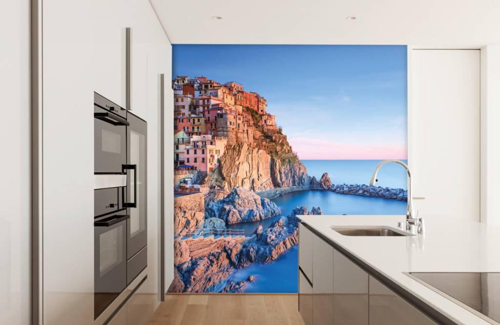Steden behang - Dorp op een rots in Italië - Slaapkamer 4