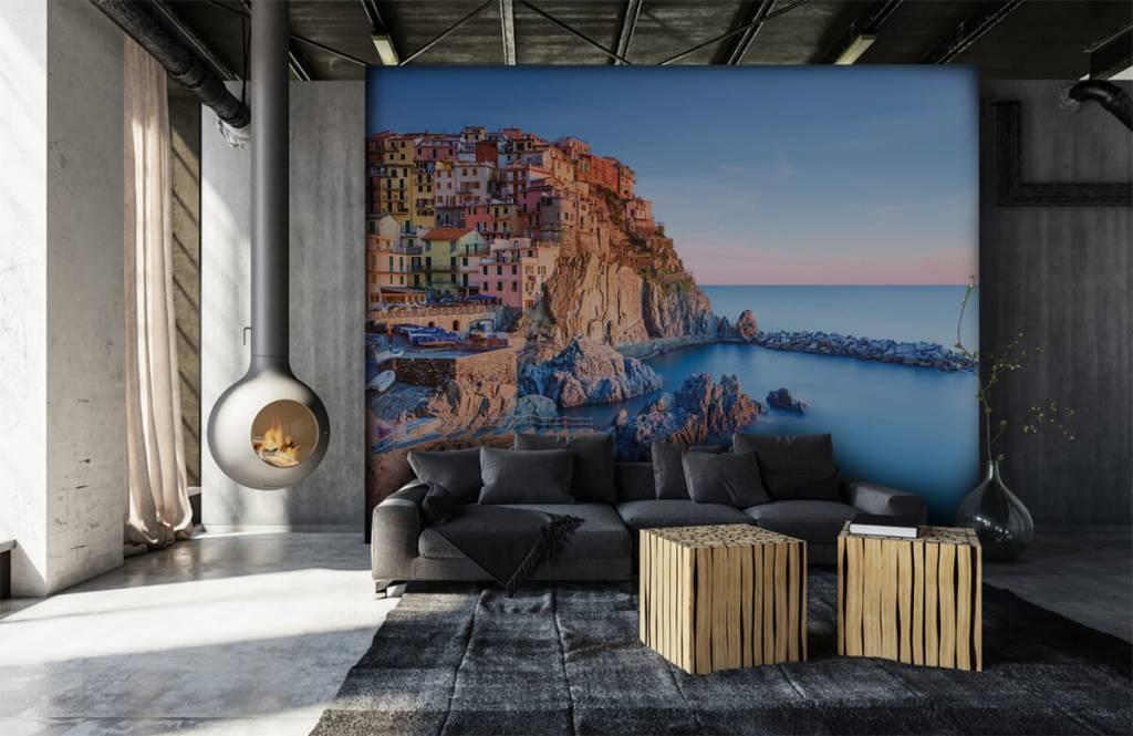 Steden behang - Dorp op een rots in Italië - Slaapkamer 6