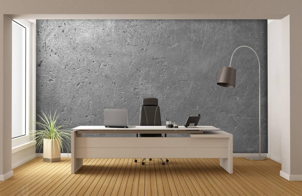 Betonlook behang - Grijze betonwand - Tienerkamer 3