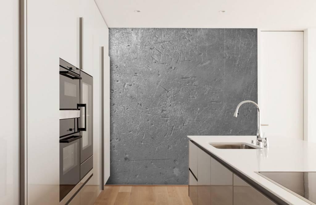 Betonlook behang - Grijze betonwand - Tienerkamer 4