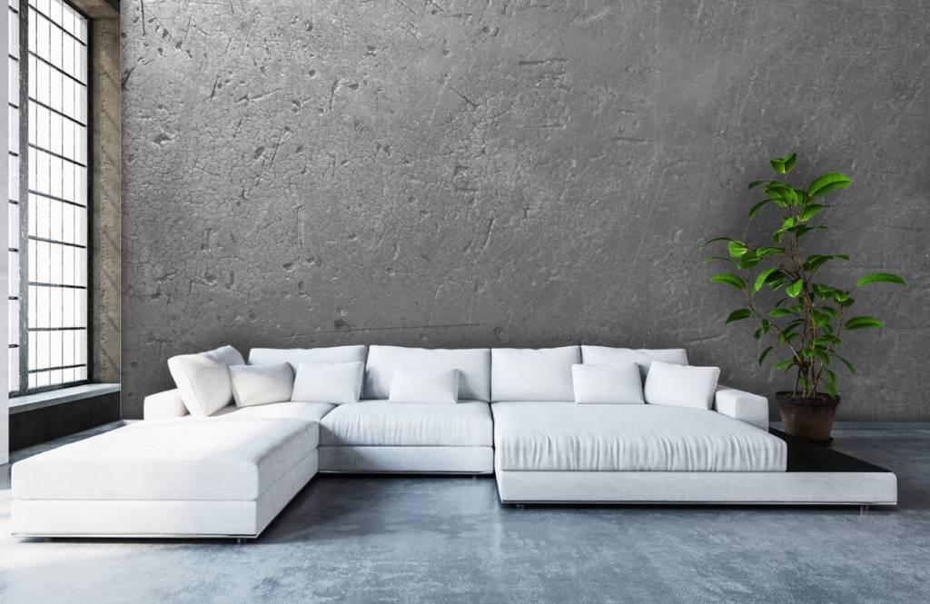 Betonlook behang - Grijze betonwand - Tienerkamer 5