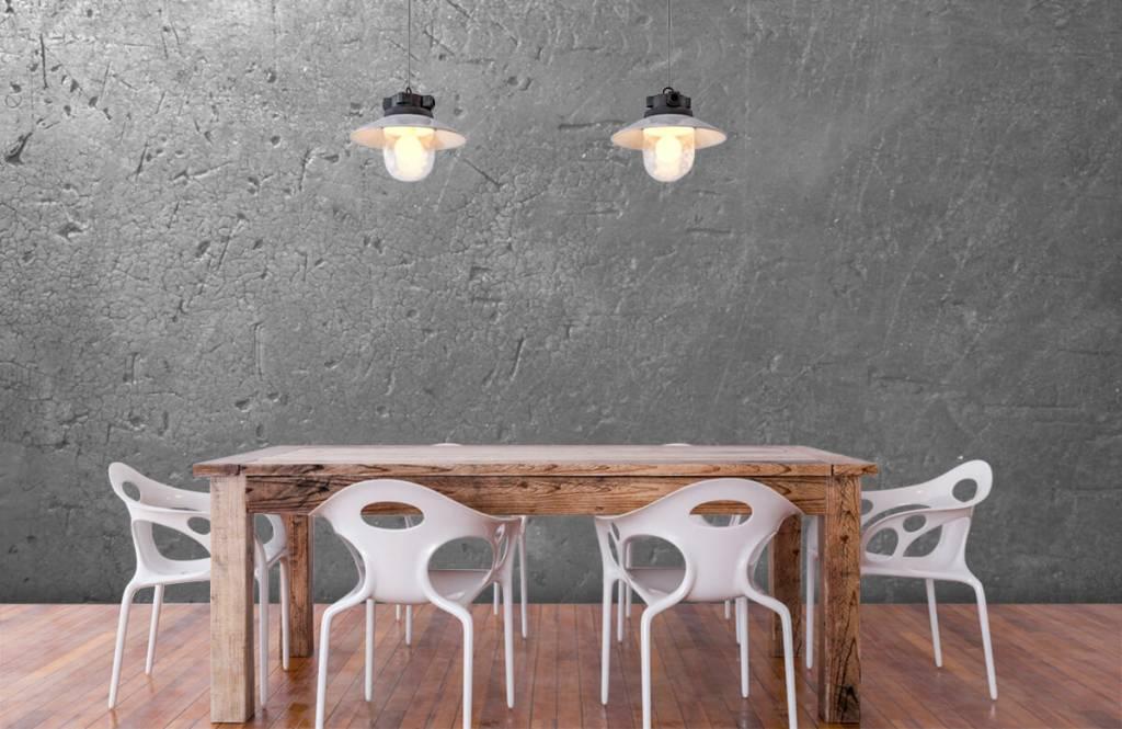 Betonlook behang - Grijze betonwand - Tienerkamer 6