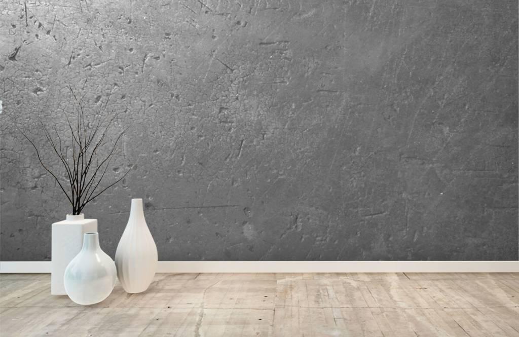 Betonlook behang - Grijze betonwand - Tienerkamer 7
