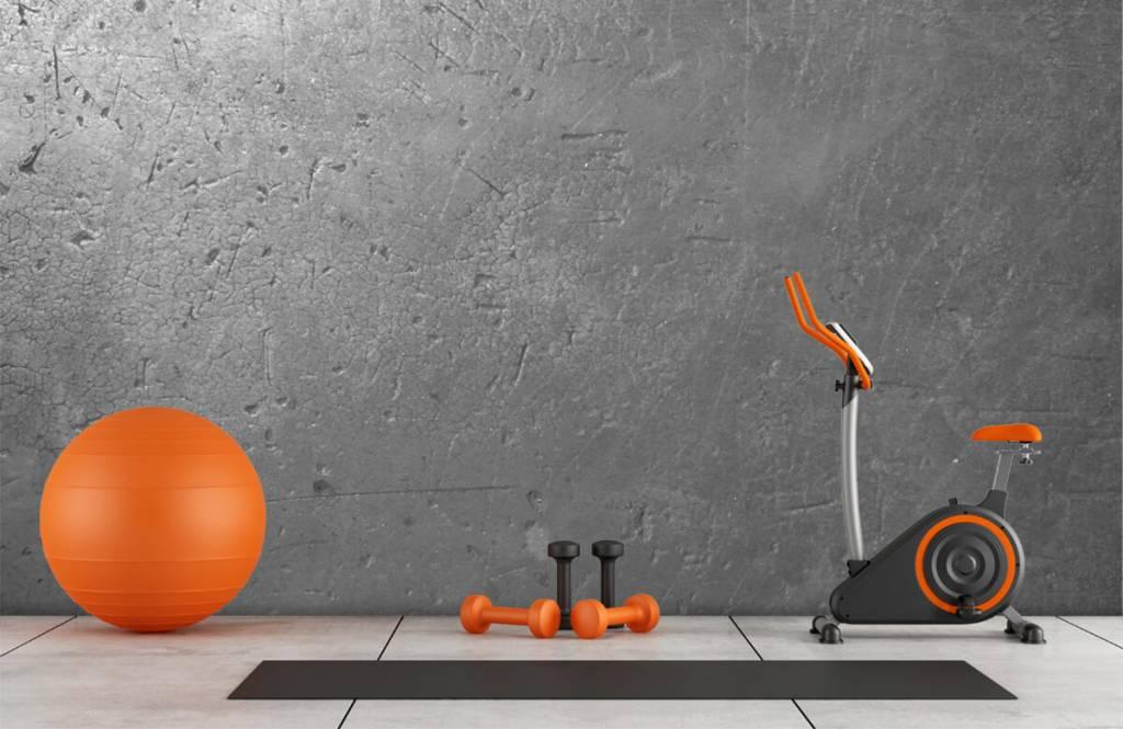 Betonlook behang - Grijze betonwand - Tienerkamer 8
