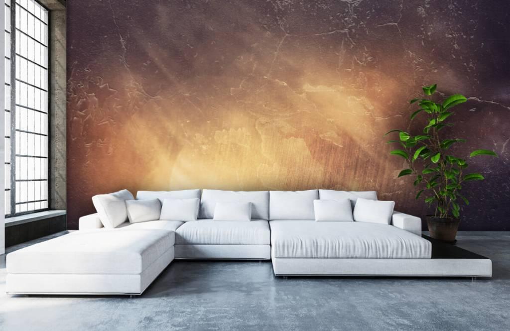 Steen behang - Zonnestralen - Directie 6