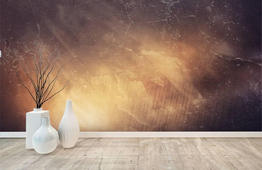 Steen behang - Zonnestralen - Directie 8