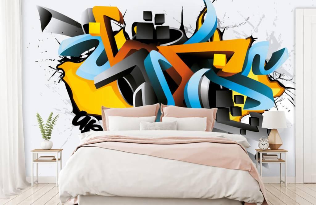 Graffiti - 3D graffiti - Tienerkamer 2