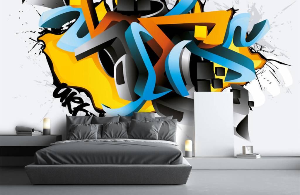 Graffiti - 3D graffiti - Tienerkamer 3