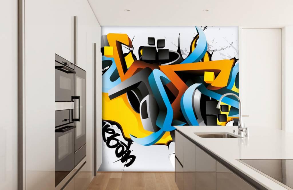 Graffiti - 3D graffiti - Tienerkamer 4