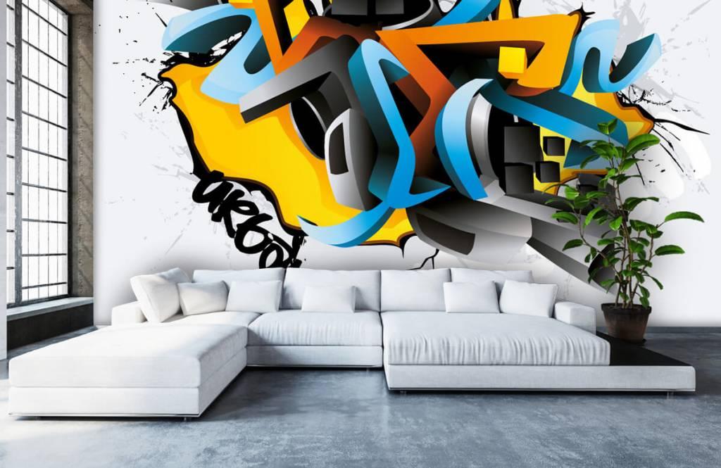 Graffiti - 3D graffiti - Tienerkamer 5