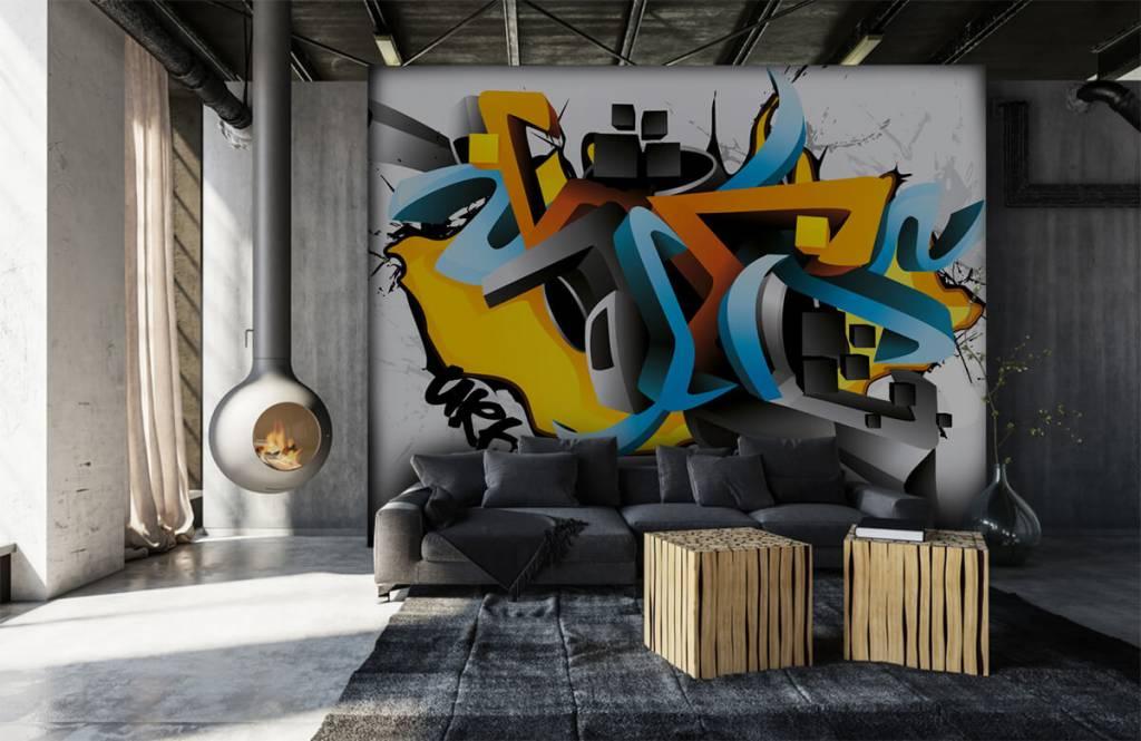 Graffiti - 3D graffiti - Tienerkamer 6