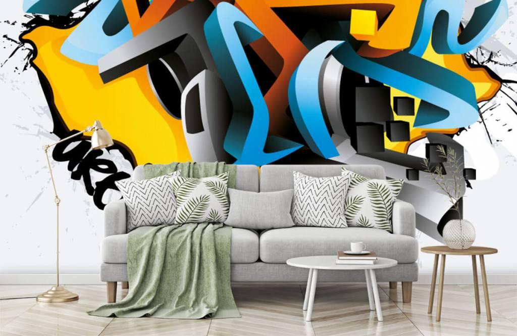 Graffiti - 3D graffiti - Tienerkamer 7