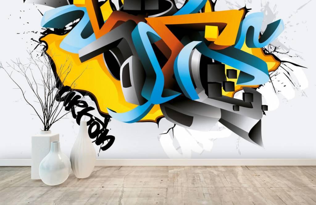 Graffiti - 3D graffiti - Tienerkamer 8