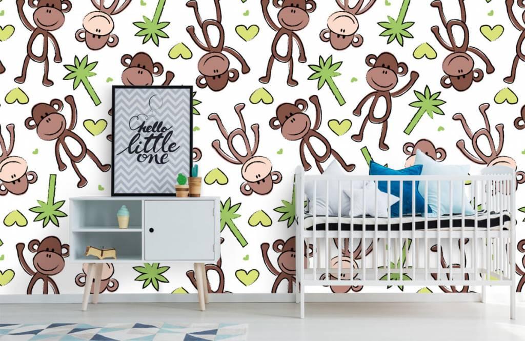 Zeedieren - Aapjes en palmbomen - Kinderkamer 1