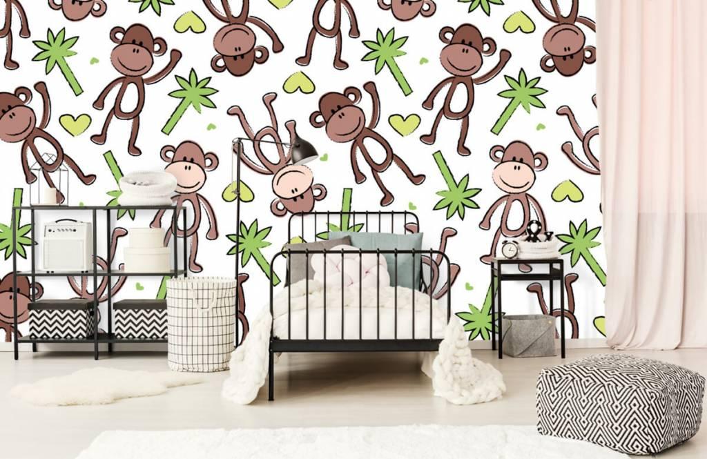 Zeedieren - Aapjes en palmbomen - Kinderkamer 2