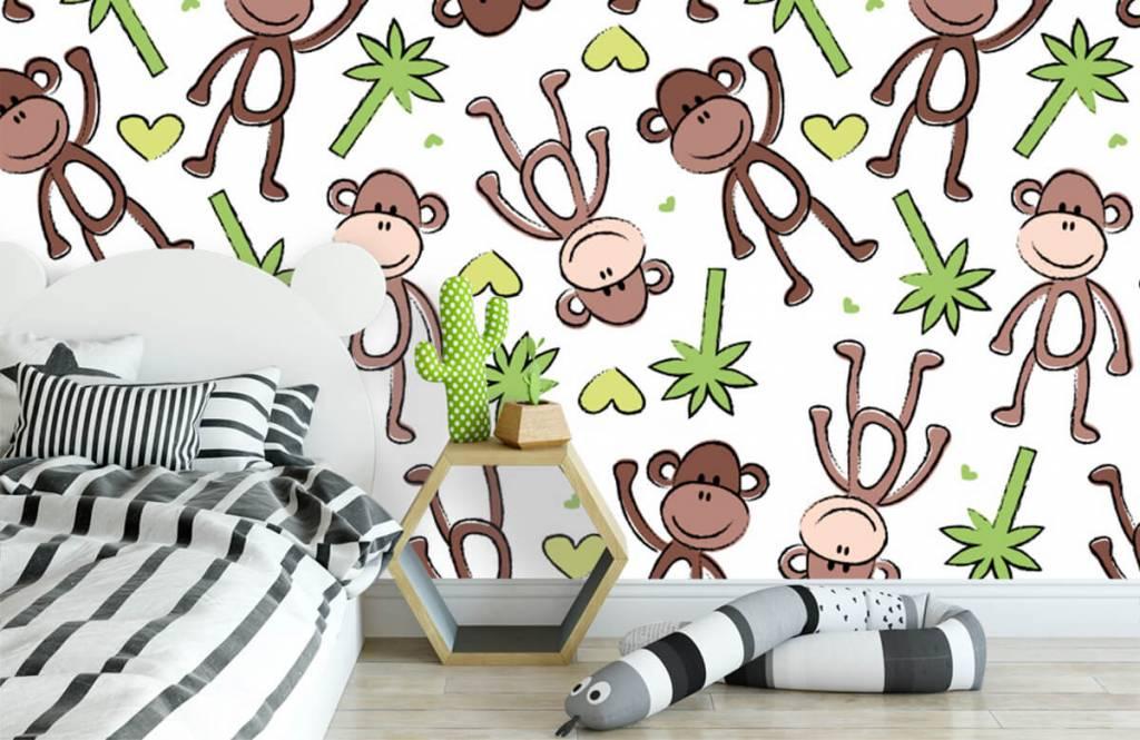 Zeedieren - Aapjes en palmbomen - Kinderkamer 3