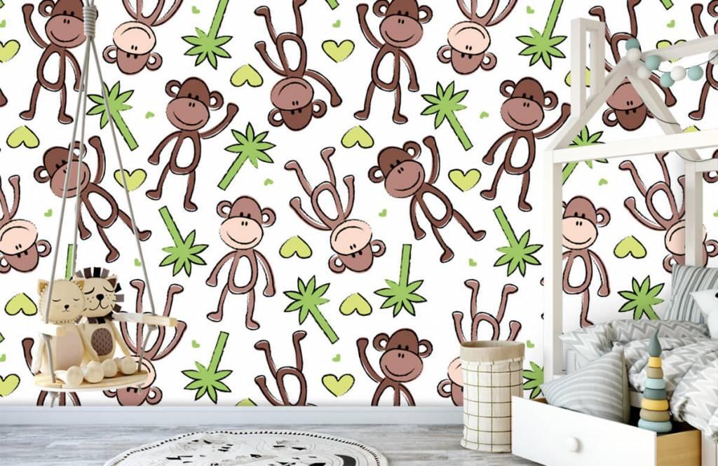 Zeedieren - Aapjes en palmbomen - Kinderkamer 4