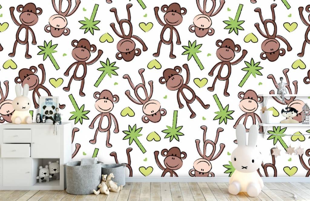 Zeedieren - Aapjes en palmbomen - Kinderkamer 5